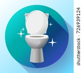 white ceramics vector clean... | Shutterstock .eps vector #726939124