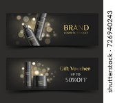 horizontal cosmetic banner or... | Shutterstock .eps vector #726940243