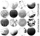 distress circular textures set... | Shutterstock .eps vector #726941668