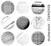 distress circular textures set... | Shutterstock .eps vector #726942418