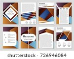 abstract vector layout... | Shutterstock .eps vector #726946084