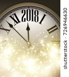 2018 new year shining... | Shutterstock .eps vector #726946630