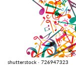 colorful music notes. vector... | Shutterstock .eps vector #726947323