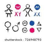 male female symbols and toilet... | Shutterstock .eps vector #726948793