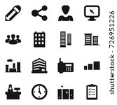 16 vector icon set   pencil ... | Shutterstock .eps vector #726951226
