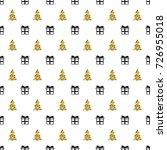 christmas new year seamless... | Shutterstock .eps vector #726955018