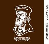 jan hus. protestantism. leaders ... | Shutterstock .eps vector #726959428