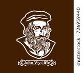 john wycliffe. protestantism.... | Shutterstock .eps vector #726959440