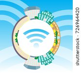 circle with smart city.... | Shutterstock . vector #726964420