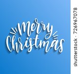 vector merry christmas...   Shutterstock .eps vector #726967078