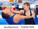 bold positive  woman is... | Shutterstock . vector #726967504