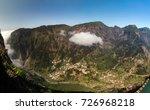 Small photo of Eira do Serrado viewpoint to Curral das Freiras village in Madeira island, Portugal.