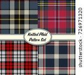 vector knitted plaid tartan... | Shutterstock .eps vector #726971320