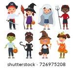 cute halloween kids set.... | Shutterstock .eps vector #726975208