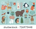 christmas set  hand drawn style ... | Shutterstock .eps vector #726975448
