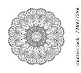 mandala flower zentangle... | Shutterstock .eps vector #726977296