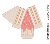 decorated cake slice box cutout ...   Shutterstock .eps vector #726977449