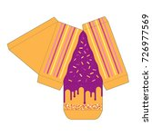 decorated cake slice box cutout ...   Shutterstock .eps vector #726977569