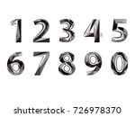 numbers in simple faceted... | Shutterstock .eps vector #726978370