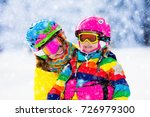 family ski vacation. group of... | Shutterstock . vector #726979300