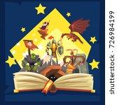 open book with legend  fairy... | Shutterstock .eps vector #726984199