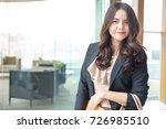 beautiful asia business woman... | Shutterstock . vector #726985510