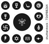 set of 13 editable faith icons. ...