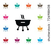 isolated grilling icon. roast... | Shutterstock .eps vector #726988438