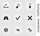 set of 9 editable health icons. ...