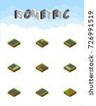 isometric road set of... | Shutterstock .eps vector #726991519