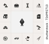 set of 13 editable school icons....