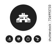 set of 5 editable school icons. ... | Shutterstock .eps vector #726993733