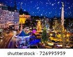 christmas fair in luxembourg....   Shutterstock . vector #726995959