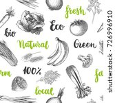 seamless natural food pattern.... | Shutterstock .eps vector #726996910