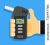 handheld breath alcohol tester... | Shutterstock .eps vector #726997780