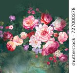 flowers carry the scent of... | Shutterstock . vector #727000378