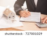 mortgage application form  ... | Shutterstock . vector #727001029
