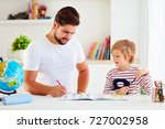 father and son having fun... | Shutterstock . vector #727002958