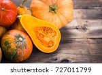 Fresh And Colorful Pumpkins And ...