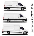 realistic cargo van. set   Shutterstock .eps vector #727011994