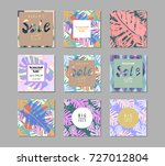 trendy sale banners collection. ... | Shutterstock .eps vector #727012804