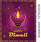 happy diwali background | Shutterstock .eps vector #727013218