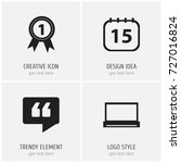 set of 4 editable office icons. ...