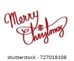 merry christmas  vector | Shutterstock .eps vector #727018108