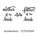 mother father of the bride... | Shutterstock .eps vector #727019269