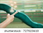 e mail and human icon over cell ... | Shutterstock . vector #727023610