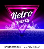 retro party poster. 1980 style.