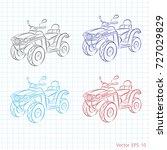 set of atv | Shutterstock .eps vector #727029829