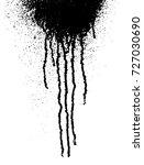 black paint drippingvector