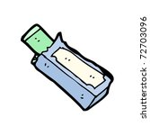 packet of chewing gum cartoon | Shutterstock .eps vector #72703096